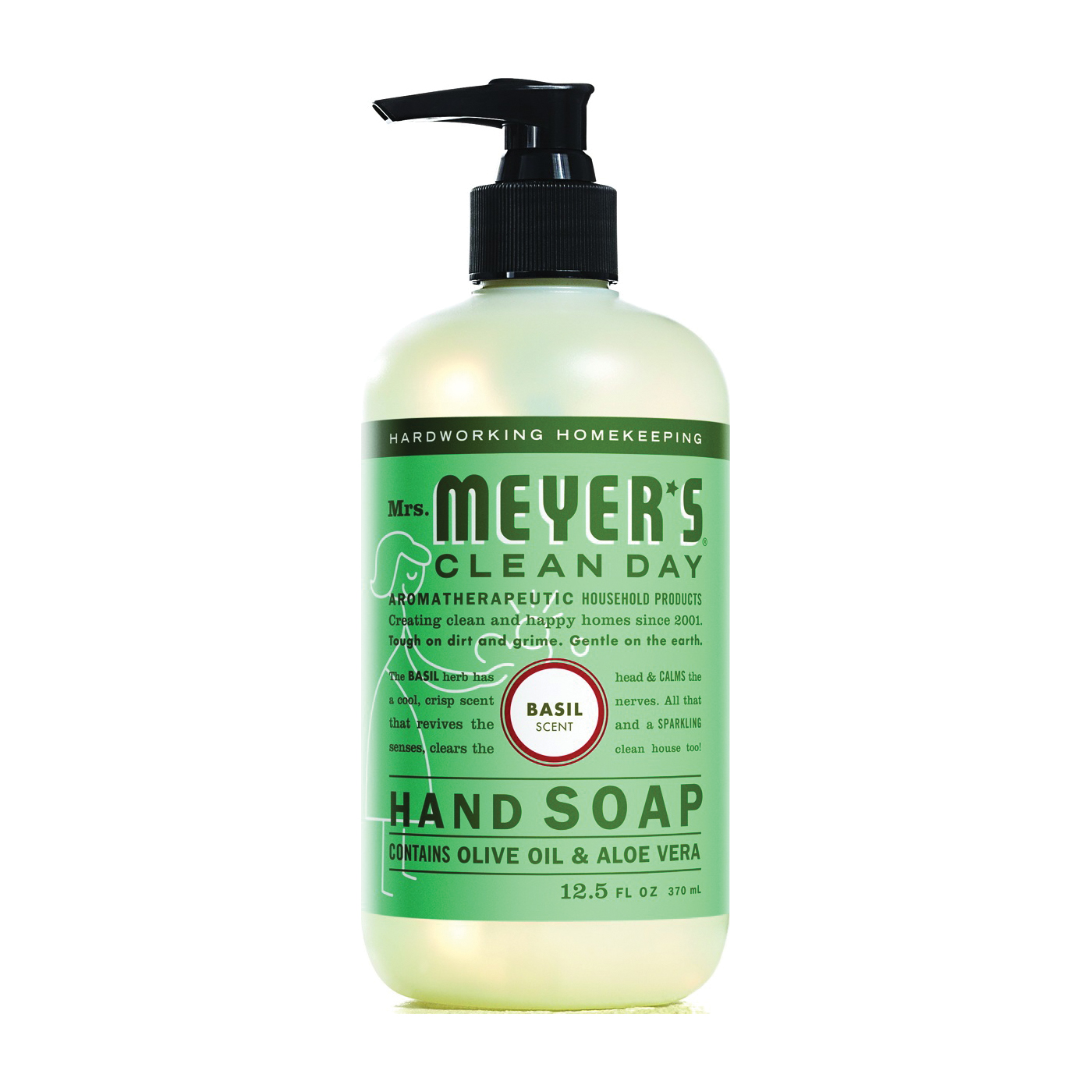 Picture of Mrs. Meyer's 14104 Hand Soap, Liquid, Colorless, Basil, 12.5 oz Package, Bottle