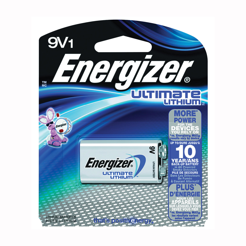 Picture of Energizer L522BP Battery, 9 V Battery, 750 mAh, 9 V Battery, Lithium, Manganese Dioxide