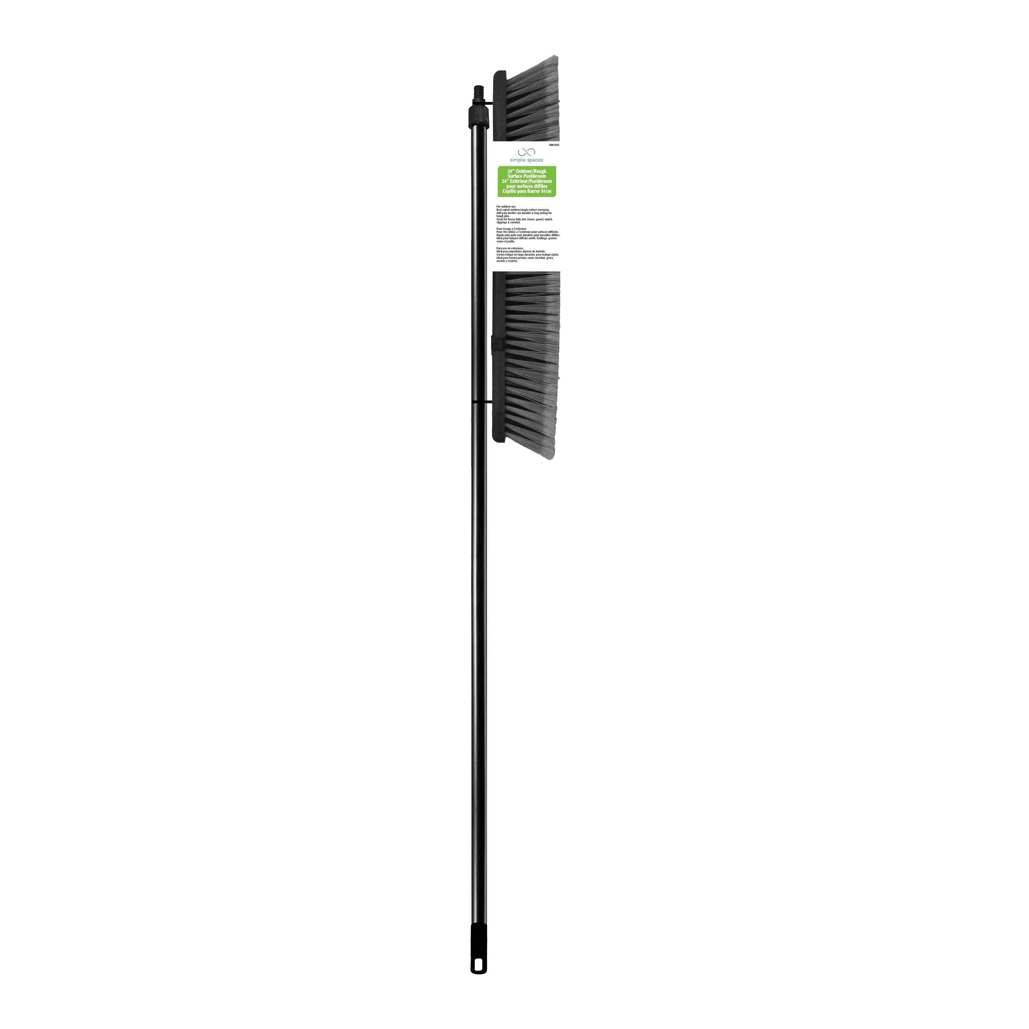 Picture of Simple Spaces 92008 Push Broom, 3-1/4 in L Trim, Palmyra Fiber Bristle, Threaded
