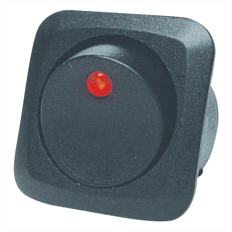 Picture of CALTERM 40600 Rocker Switch, 25 A, 12 VDC, SPST, Black