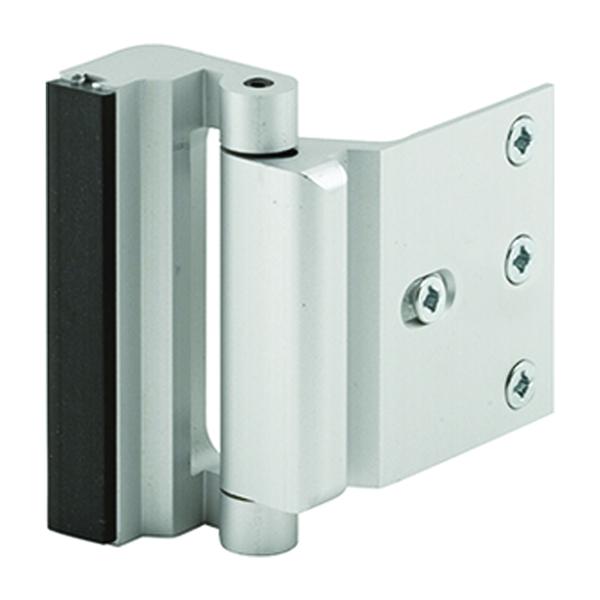 Picture of Defender Security U 10827 Blocker Entry Door Stop, 2-3/16 in L, 1-3/8 in W, Aluminum, Anodized Satin Nickel