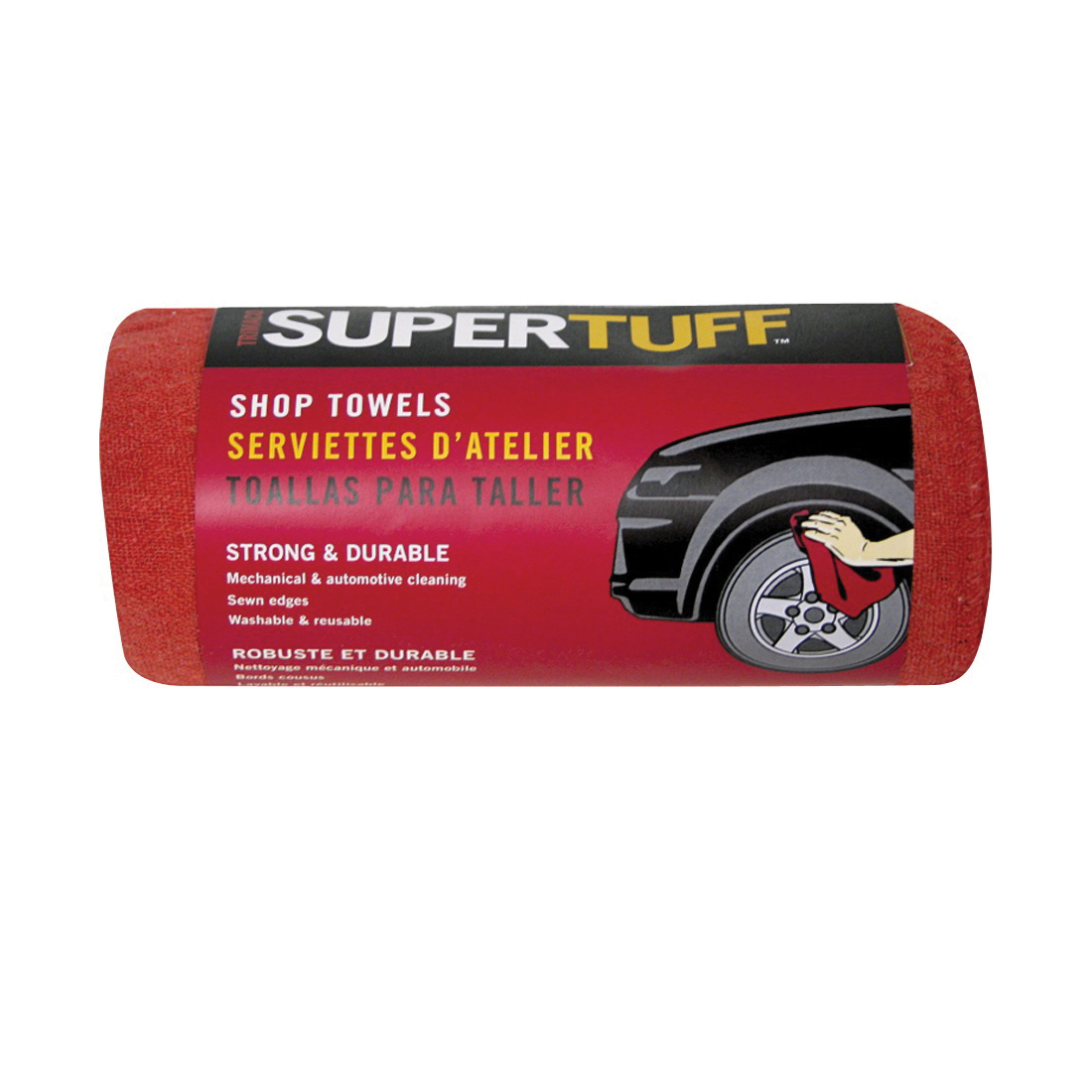 Picture of Trimaco SUPERTUFF 32006 Shop Towel, 14 x 14 in Capacity, Red