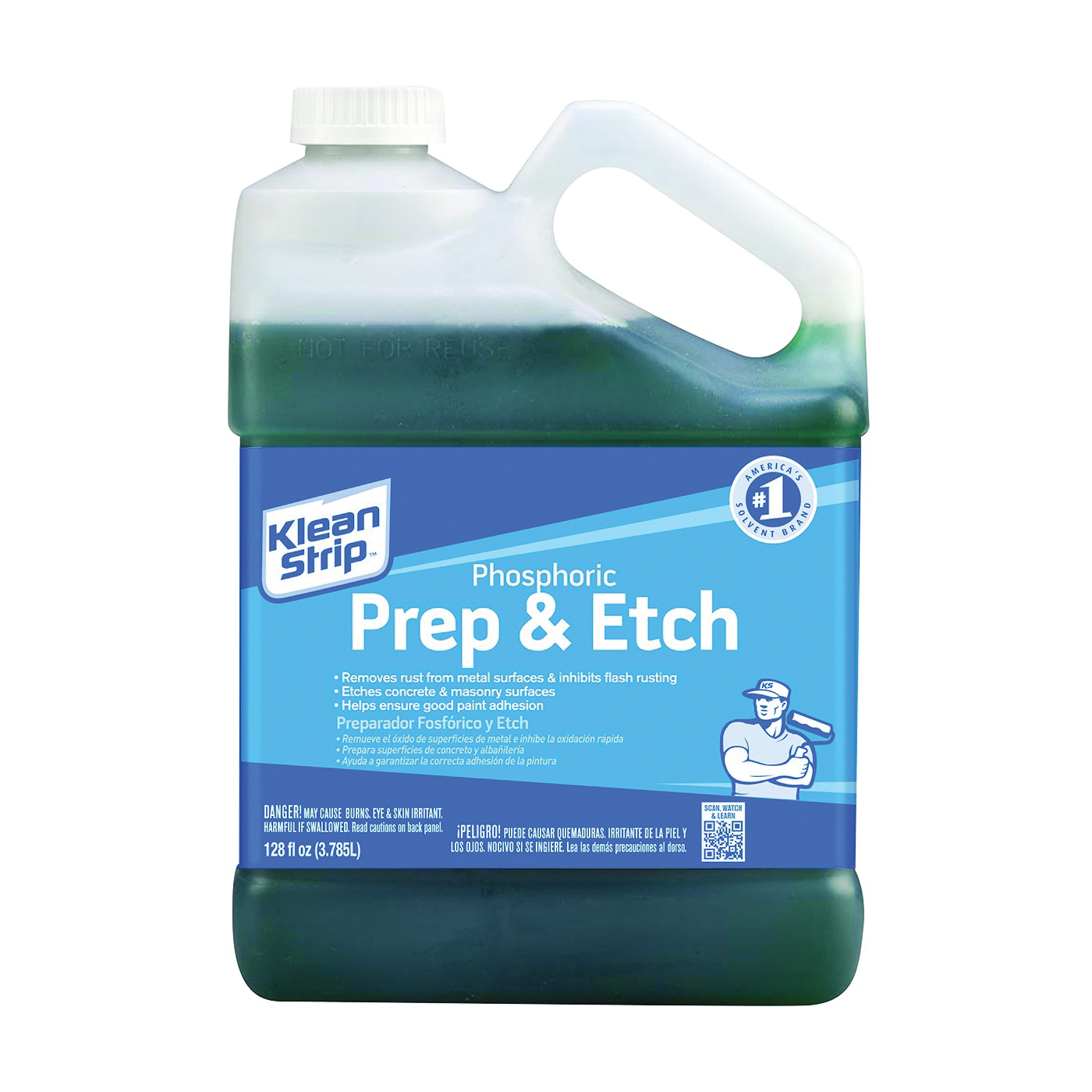 Picture of Klean Strip GKPA30220 Phosphoric Prep and Etch, Liquid, Green, 1.25 gal, Can