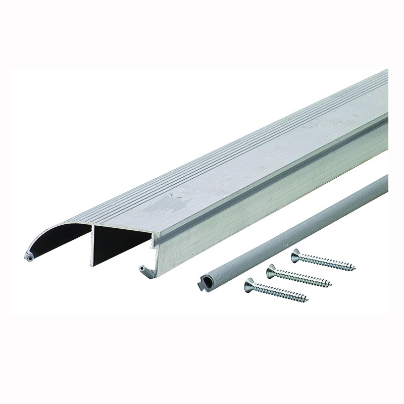 Picture of M-D 08631 Bumper Threshold with Insert, 36 in L, 3-3/8 in W, Aluminum, Aluminum