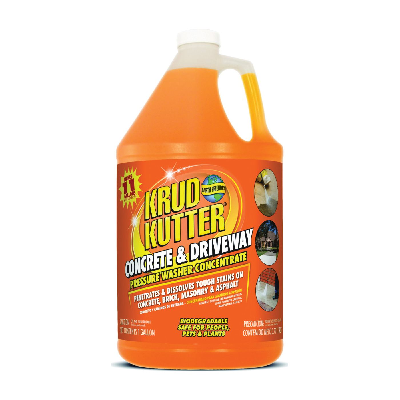 Picture of KRUD KUTTER DG014 Concrete and Driveway Cleaner, Liquid, Solvent, 1 gal Package, Bottle