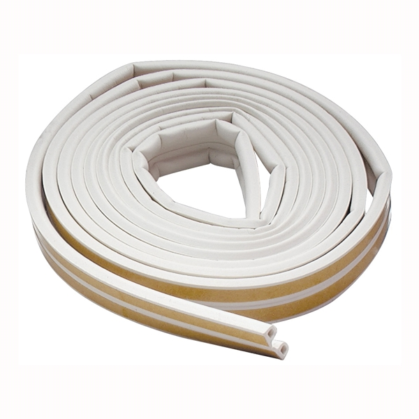 Picture of M-D 02576 Weatherstrip Tape, 3/8 in W, 17 ft L, EPDM Rubber, White