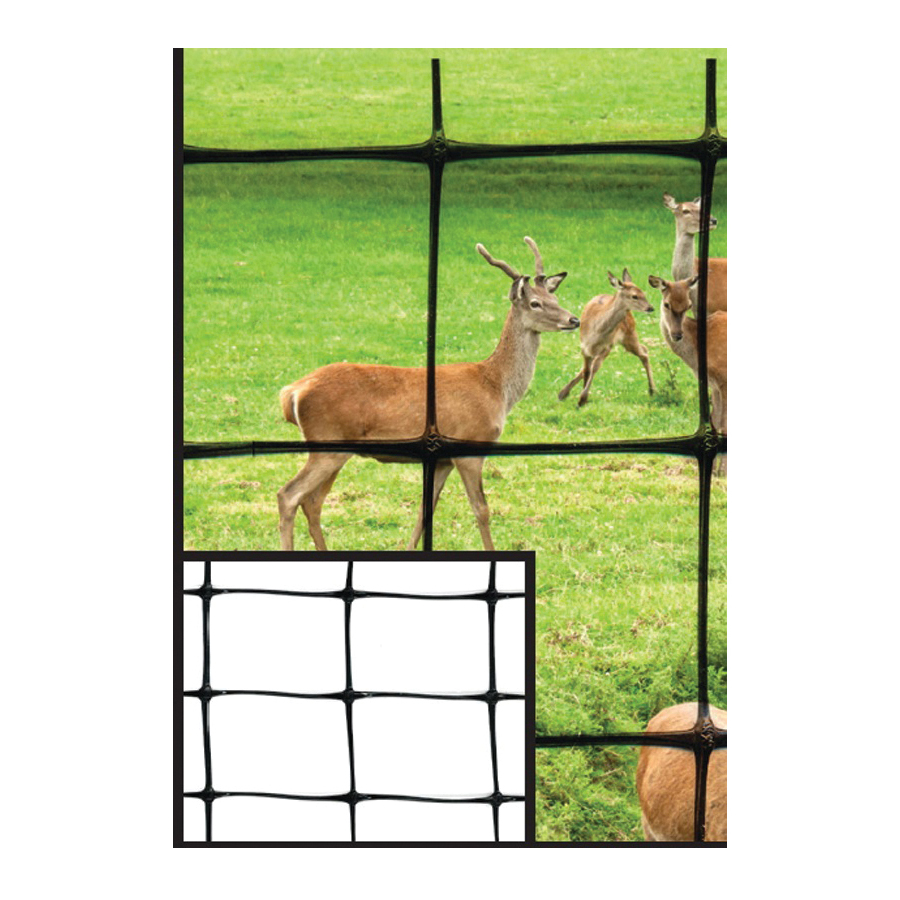 Picture of TENAX 001096 Deer Fence, 100 ft L, 7-1/2 ft H, 1-7/9 x 1-32/33 in Mesh, Polypropylene, Black