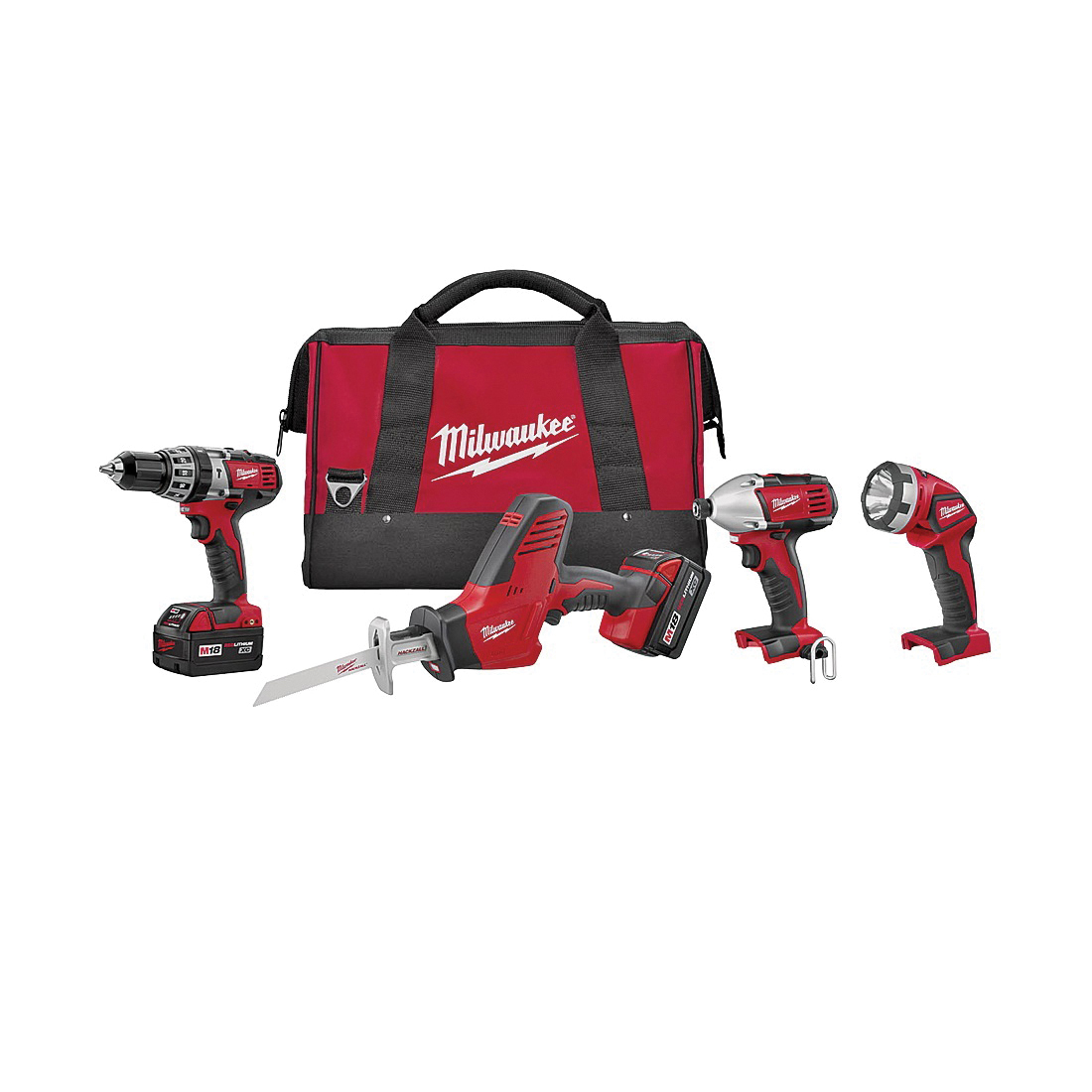 Picture of Milwaukee 2695-24 Four-Tool Combo Kit, Battery Included: Yes