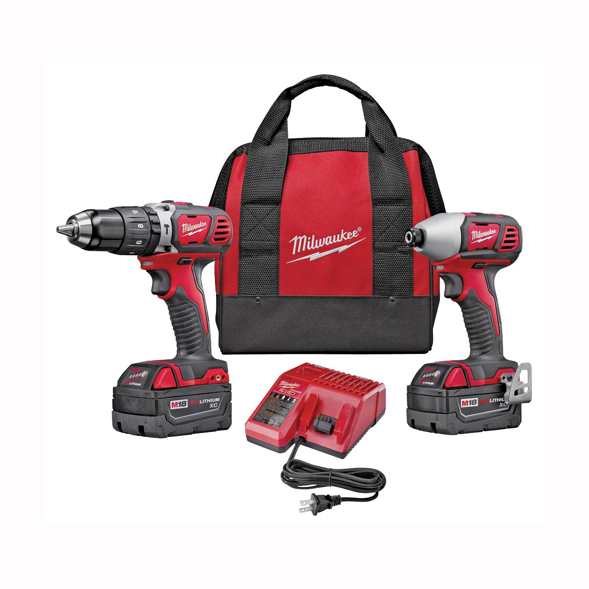 Picture of Milwaukee 2697-22 Two-Tool Combo Kit, Battery Included: Yes