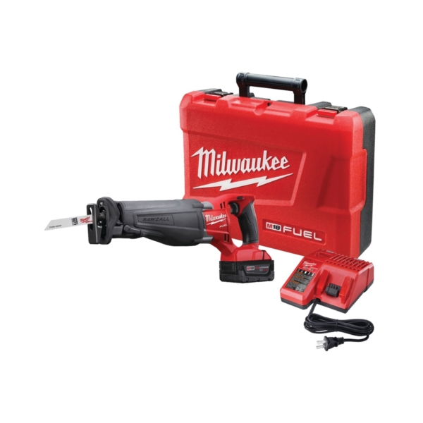 Picture of Milwaukee 2720-21 Reciprocating Saw Kit, Kit, 18 V Battery, 4 Ah, 1-1/8 in L Stroke, 0 to 3000 SPM