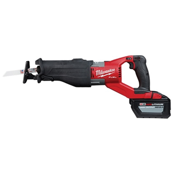 Picture of Milwaukee 2722-21HD Reciprocating Saw Kit, Kit, 18 V Battery, 12 Ah, 1-1/4 in L Stroke, 0 to 3000 SPM