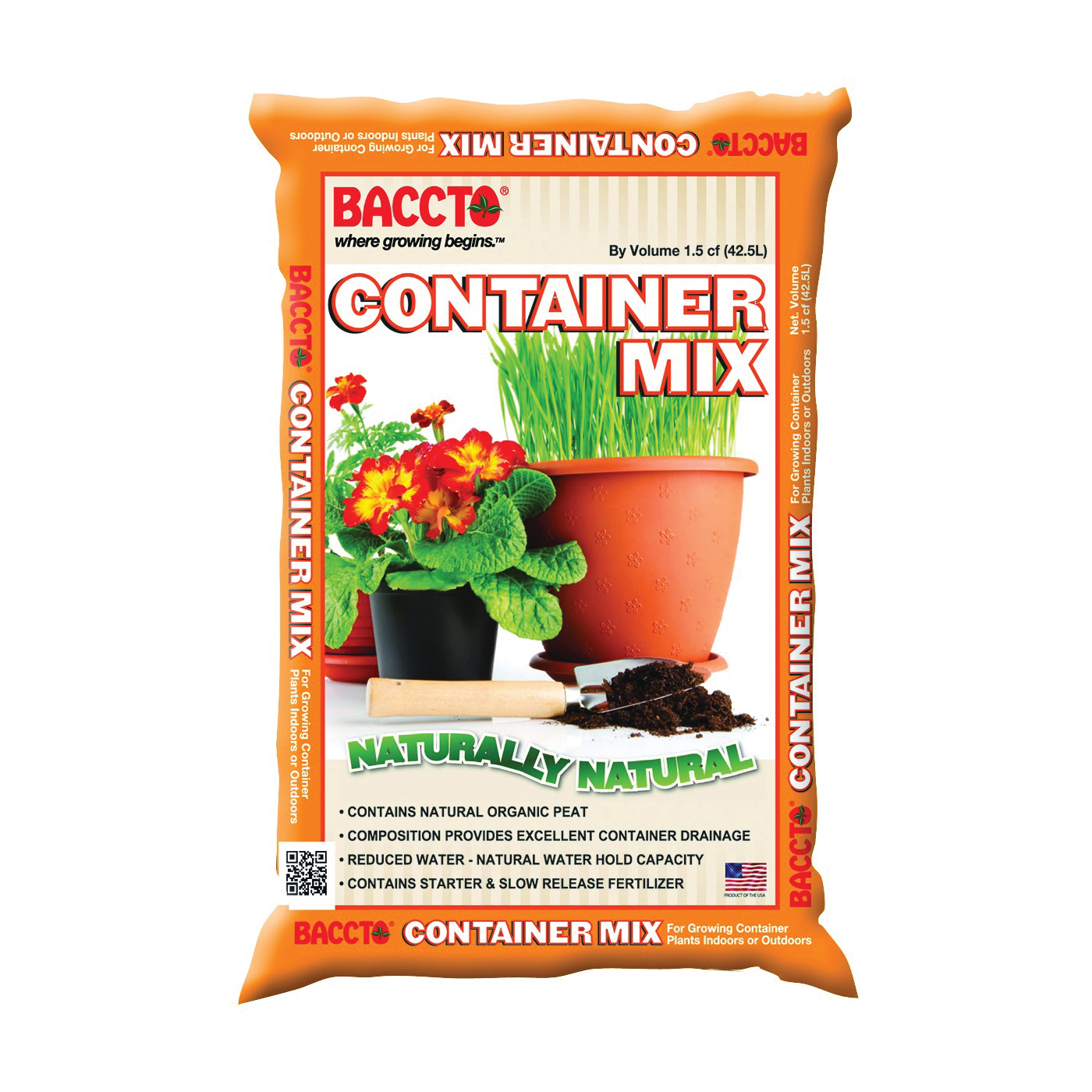 Picture of BACCTO 1815 Container Mix, 1-1/2 cu-ft Coverage Area, Solid, Bag