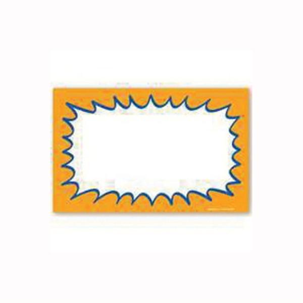 Picture of Centurion CZG938 Laser Starburst Sign, Orange Background, 5-1/2 in W x 3-1/2 in H Dimensions