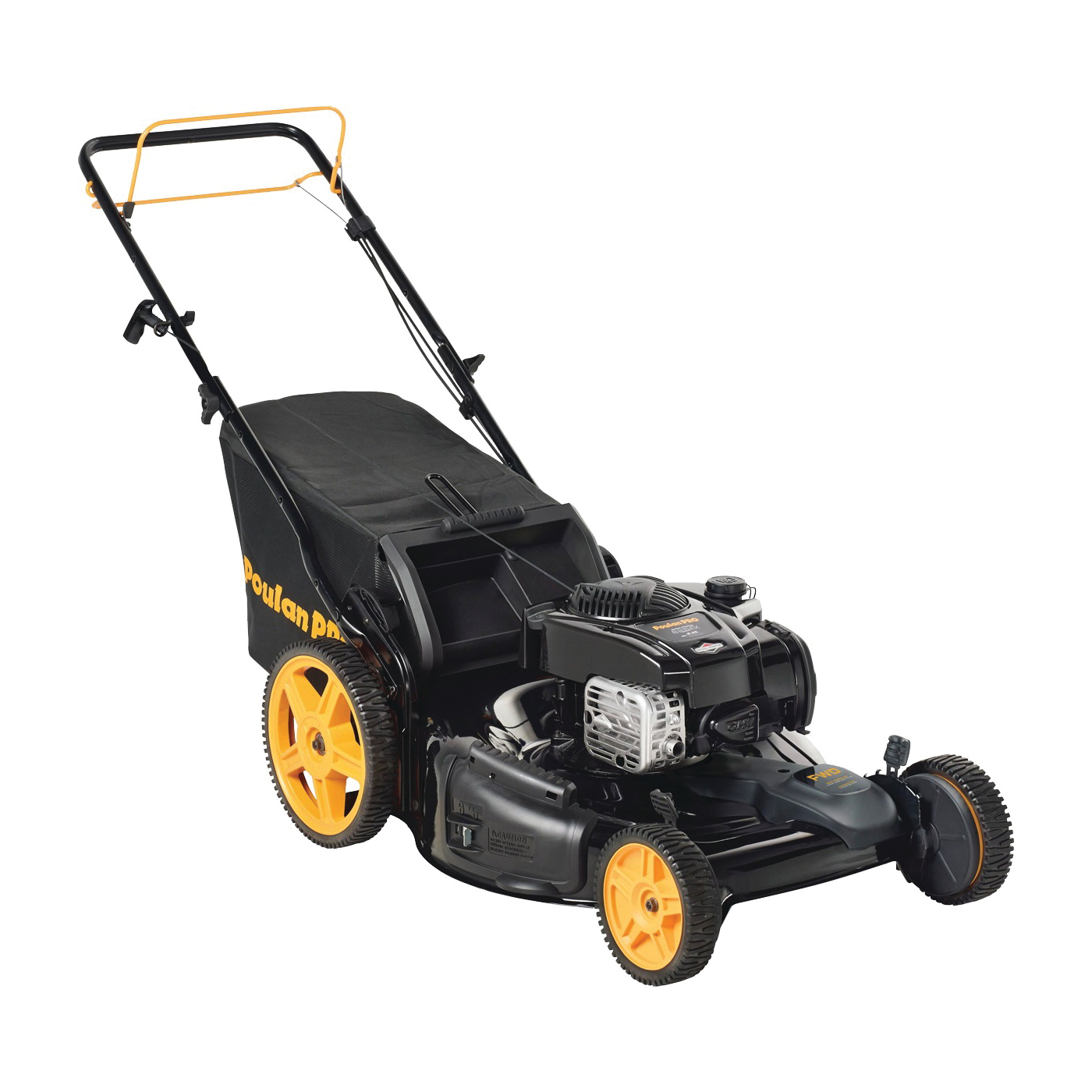 Picture of Poulan Pro PR675Y22RHP Mower, 6.75 hp, 160 cc Engine Displacement, Gasoline, 22 in W Cutting, Mulcher Blade