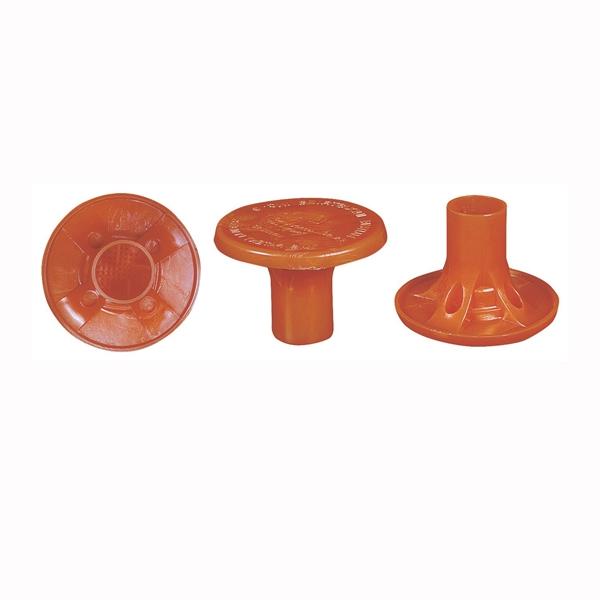 Picture of MUTUAL INDUSTRIES 14640-4 Rebar Cap, #4 to 8 Rebar, Polymer, Orange