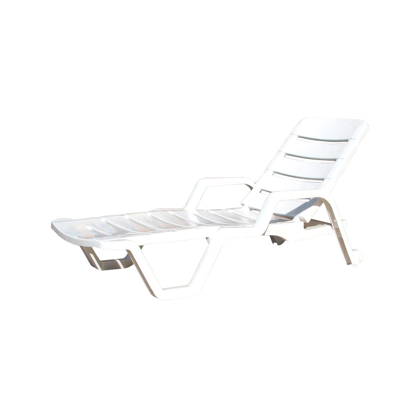 Picture of Adams 8010-48-3700 Chaise Lounge, 27 in OAW, 76-1/4 in OAD, 17-1/2 in OAH, 4 -Position, Resin Frame, Polypropylene