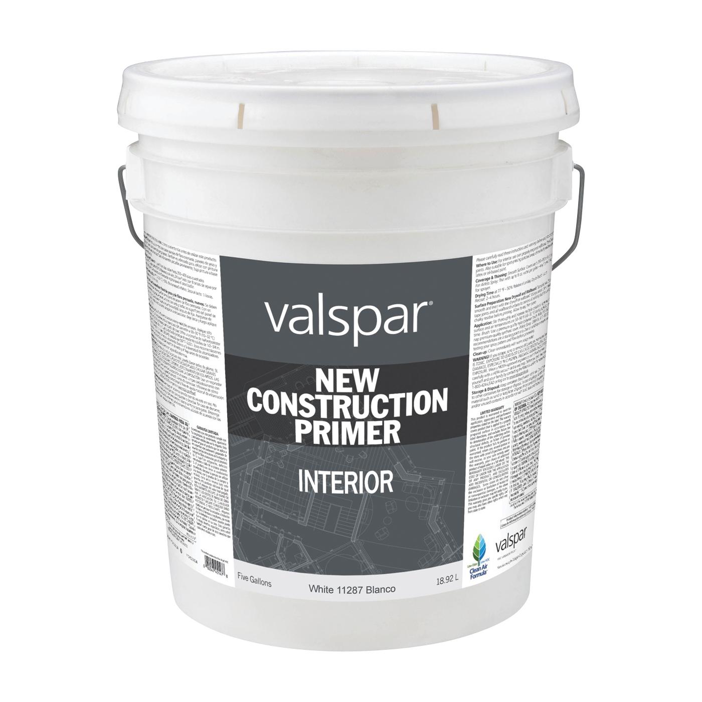 Picture of Valspar 11287 New Construction Primer, White, 5 gal, Pail