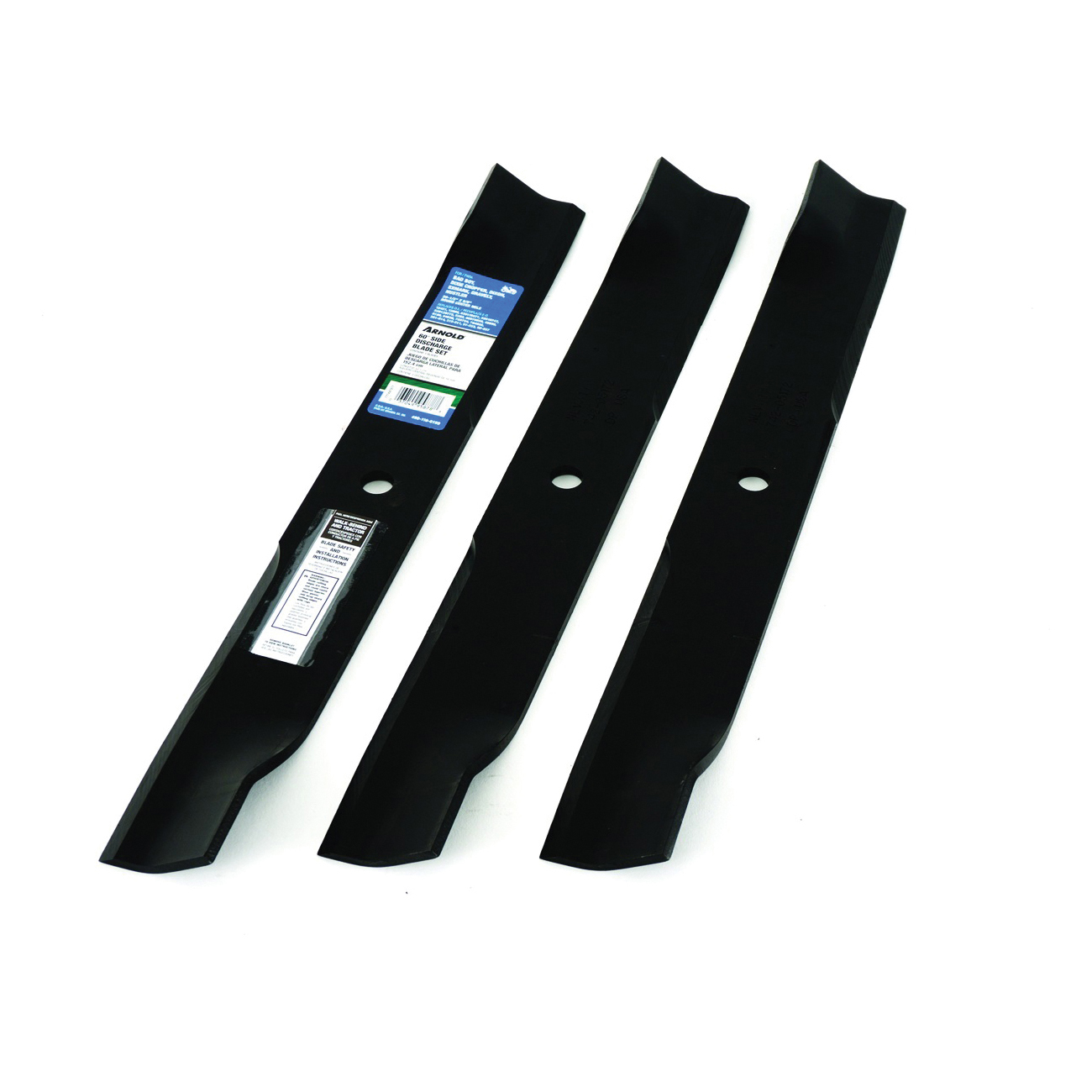 Picture of ARNOLD 490-110-0159 Blade Set, 60 in L, For: Bad Boy, Dixie Chopper, Dixon, Exmark, Gravely and Hustler Tractors