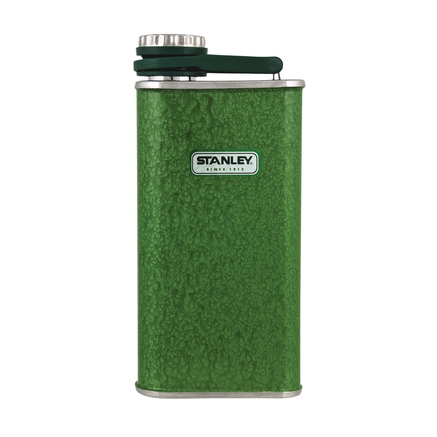 Picture of STANLEY Classic 10-00837-045 Flask, 8 oz Capacity, Stainless Steel, Hammertone Green