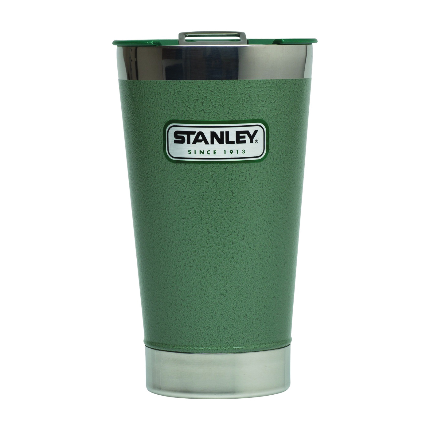 Picture of STANLEY 10-01704-001 Vacuum Pint, 16 oz Capacity, Stainless Steel, Hammertone Green