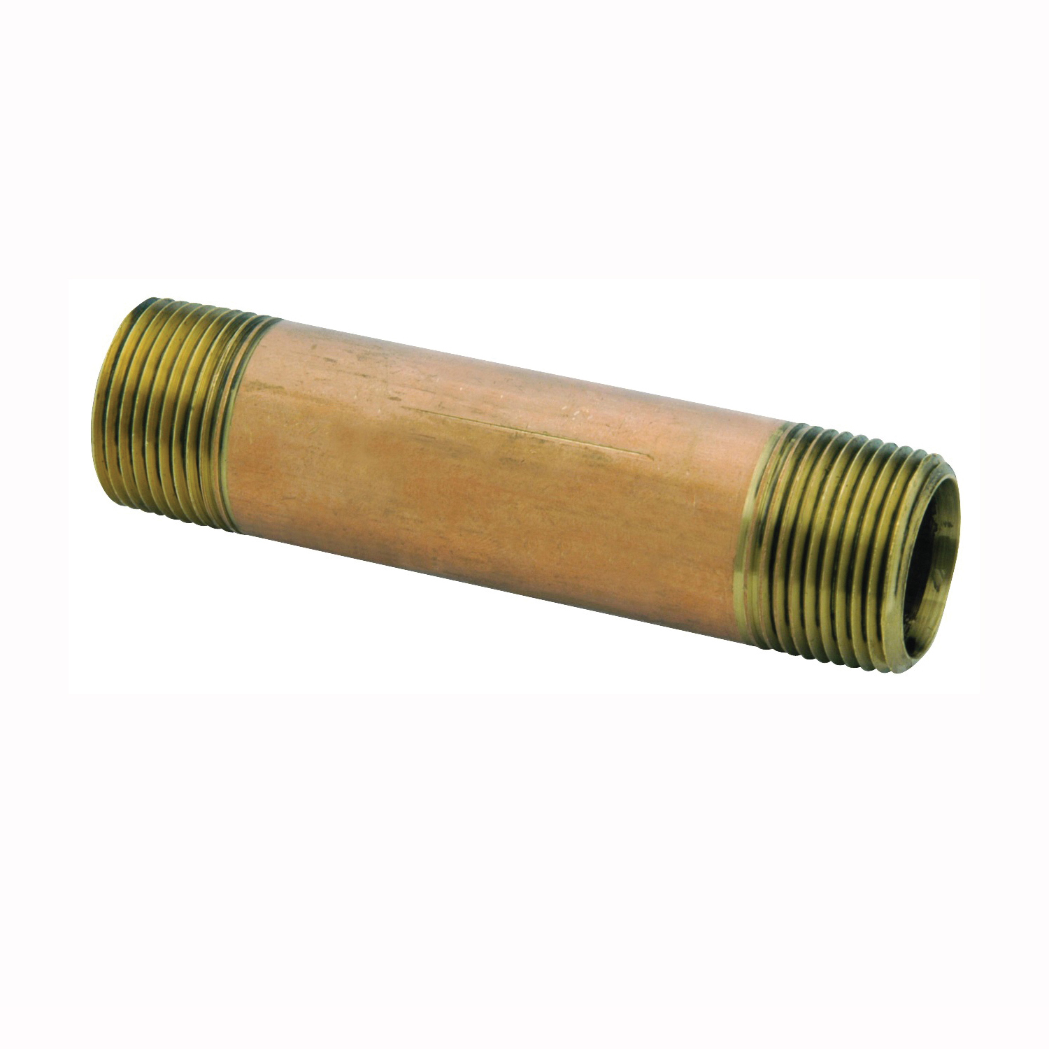 Picture of Anderson Metals 38300-0640 Pipe Nipple, 3/8 in, NPT, Brass, 890 psi Pressure, 4 in L