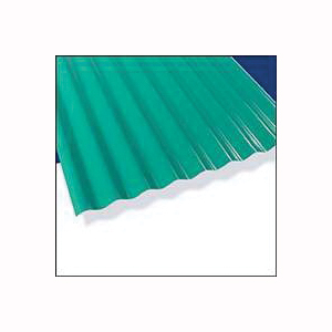 Picture of Palruf 101480 Corrugated Roofing Panel, 12 ft L, 26 in W, 0.063 Thick Material, Polycarbonate, Green
