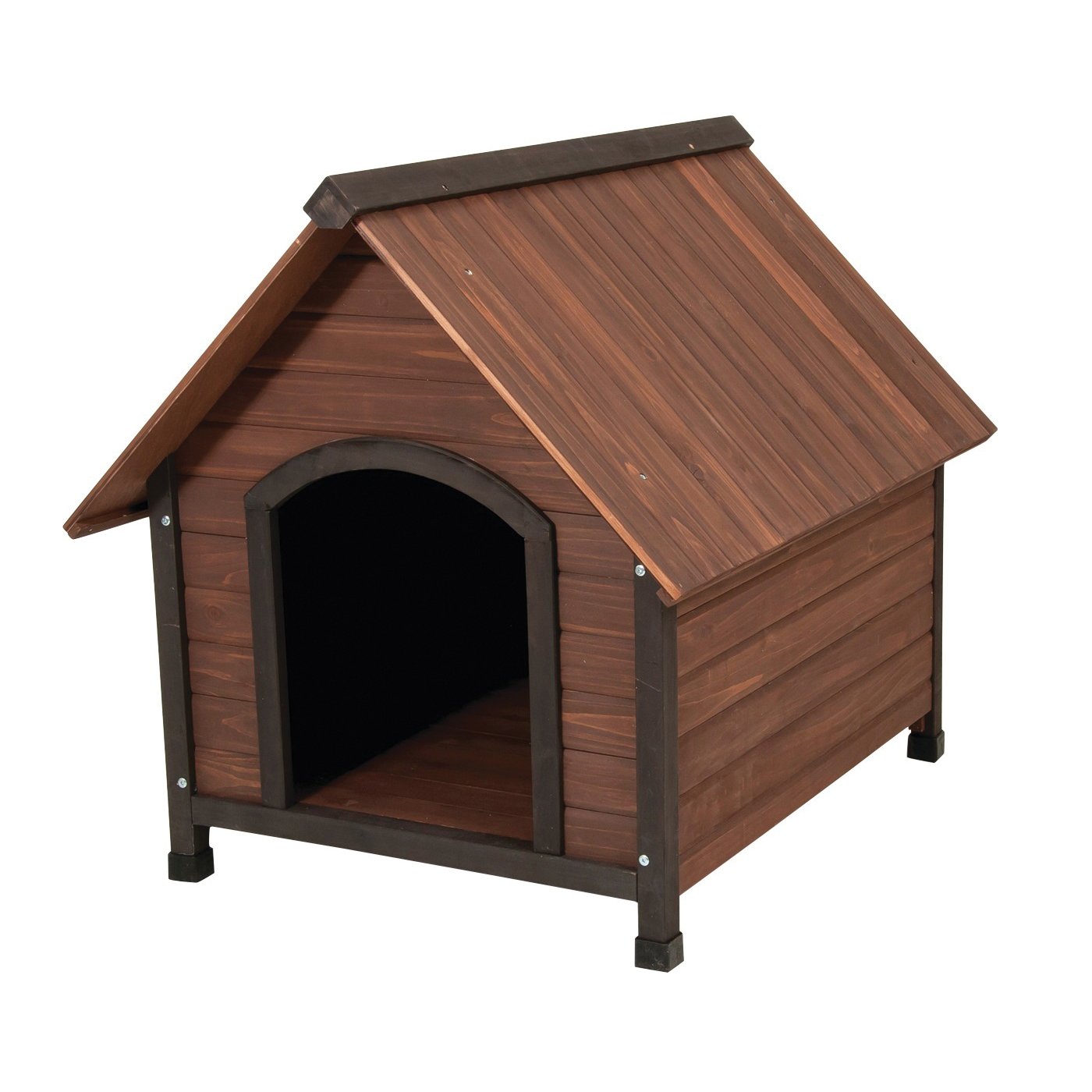 Picture of Aspenpet Ruff Hauz 25038 Dog House, 38-1/2 in OAL, 31 in OAW, 34 in OAH, Wood, Dark Brown