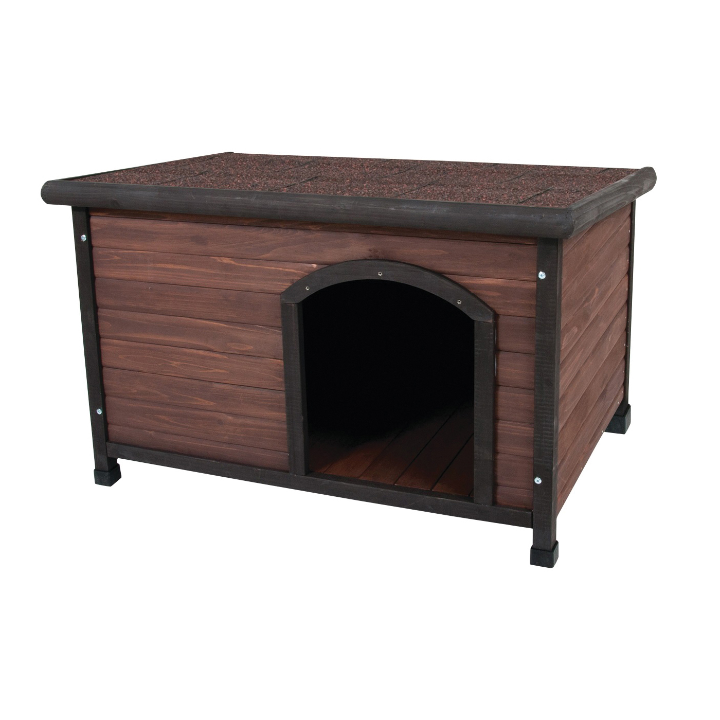 Picture of Aspenpet Ruff Hauz 25040 Dog House, 45-1/2 in OAL, 31 in OAW, 32.3 in OAH, Solid Wood, Dark Brown