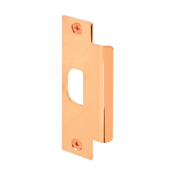 Picture of Defender Security U 9428 Door Strike Plate, 4-7/8 in L, 1-1/4 in W, Steel, Brass