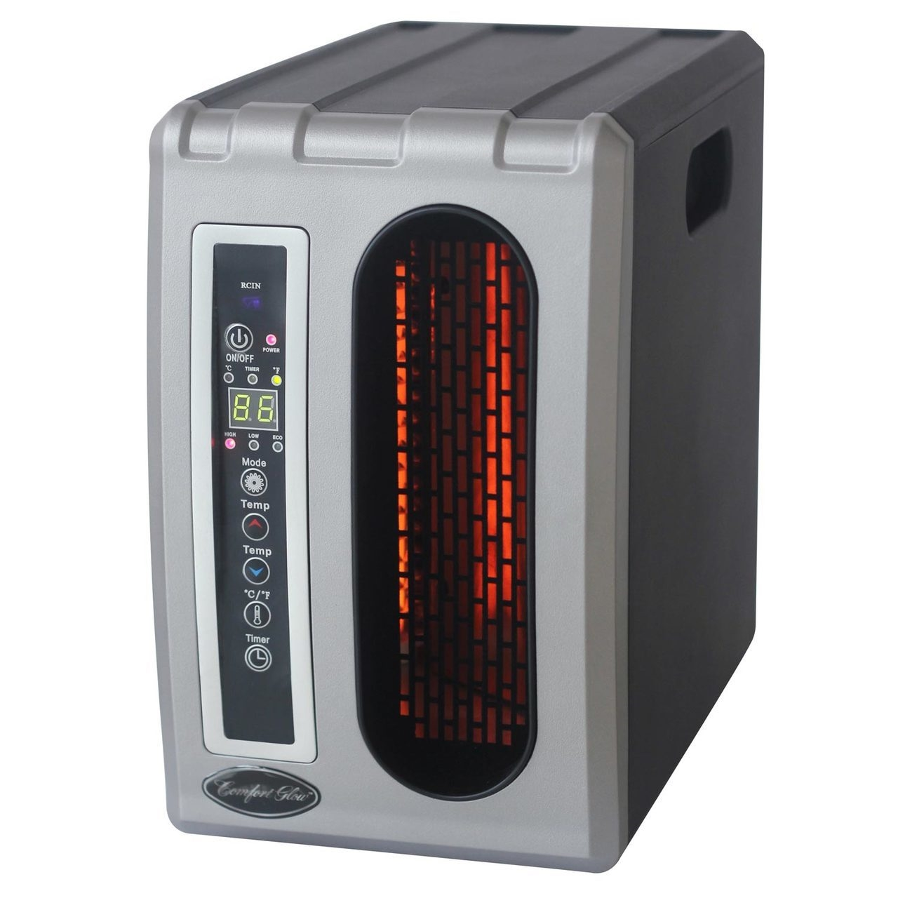 Picture of Comfort Glow QDE1320 Furnace Electric Heater, 15 A, 120 V, 1500 W, 5120 Btu, 1000 sq-ft Heating Area, Silver