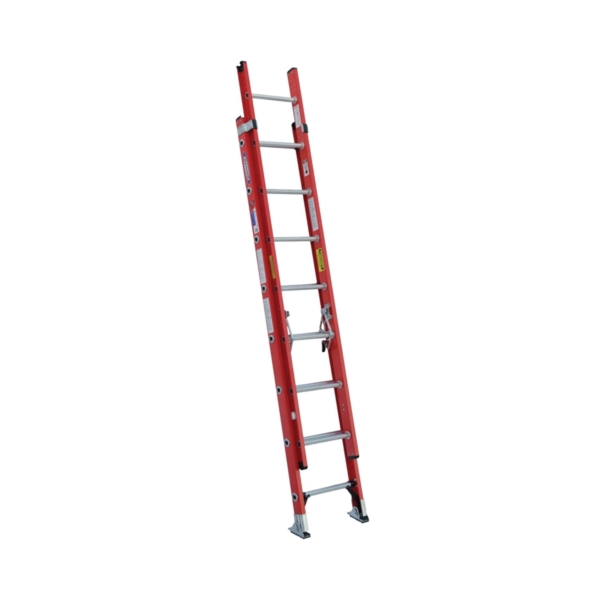 Picture of WERNER D6216-2 Extension Ladder, 15 ft H Reach, 300 lb, Fiberglass