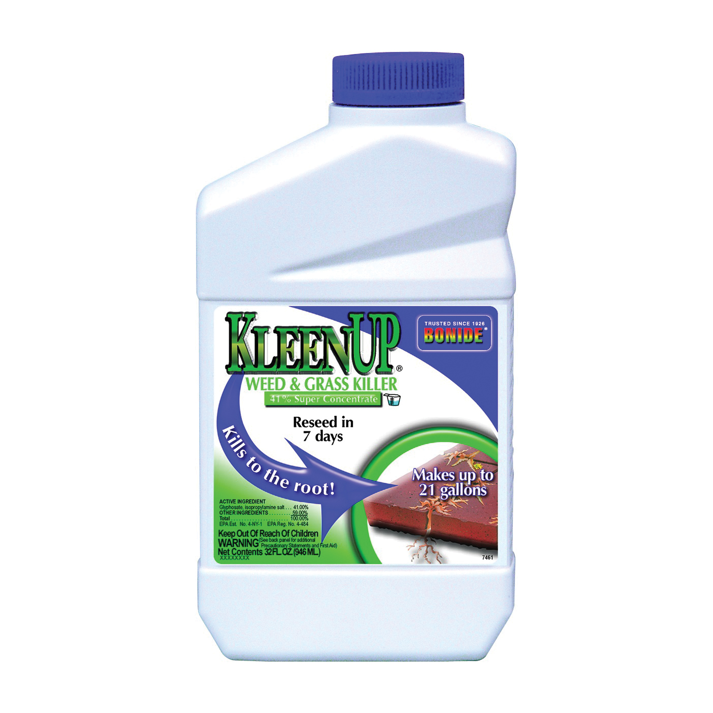 Picture of Bonide 7461 Weed and Grass Killer, Liquid, Amber/Light Brown, 12 qt Package