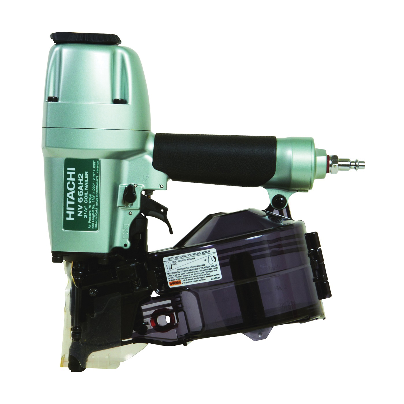 Picture of METABO NV65AH2 Siding Nailer, 200 to 300 Magazine, 15 deg Plastic, 16 deg Wire Collation, Wire Weld Collation