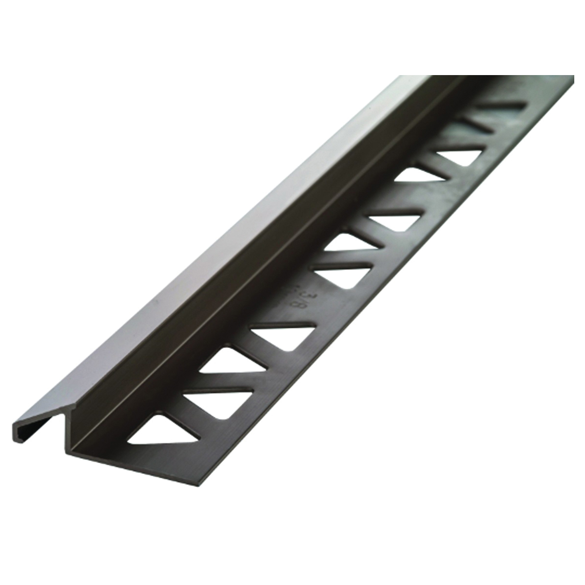 Picture of M-D 31360 Tile Reducer, 8 ft L, 1-1/8 in W, Aluminum, Pewter