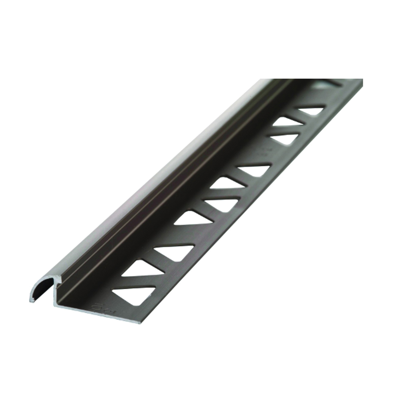 Picture of M-D 31373 Bullnose Tile Edge, 8 ft L, 1-3/8 in W, Aluminum, Pewter