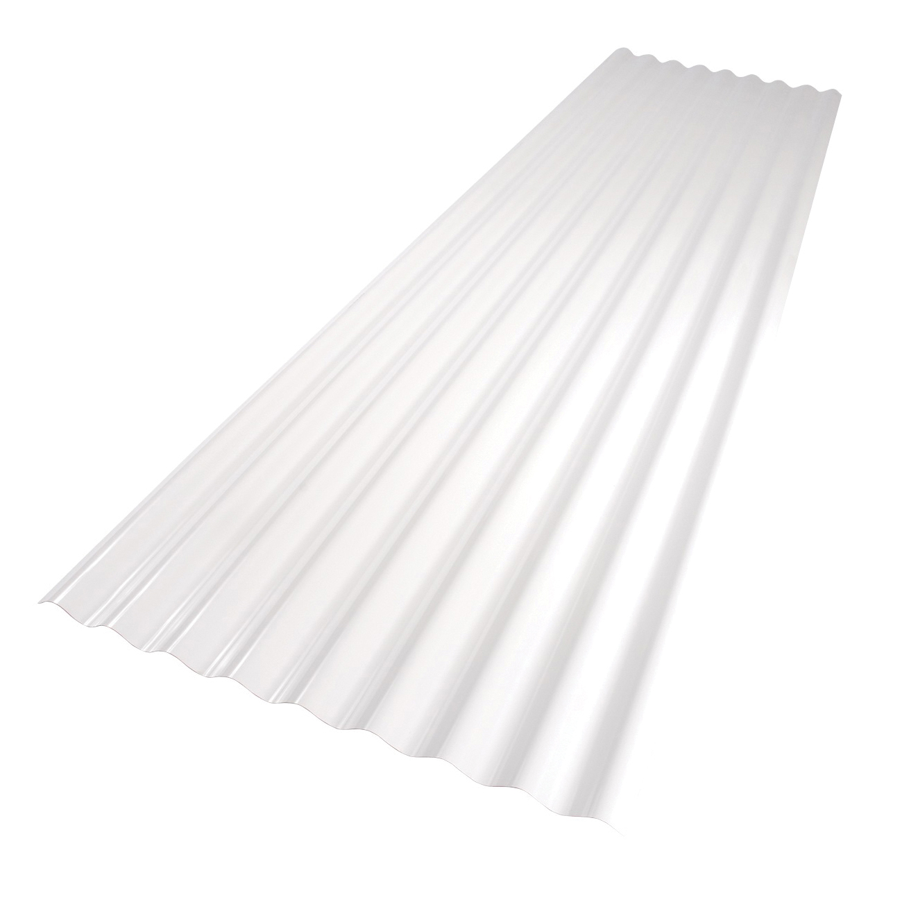 Picture of Palruf 101336 Corrugated Roofing Panel, 8 ft L, 26 in W, PVC, White