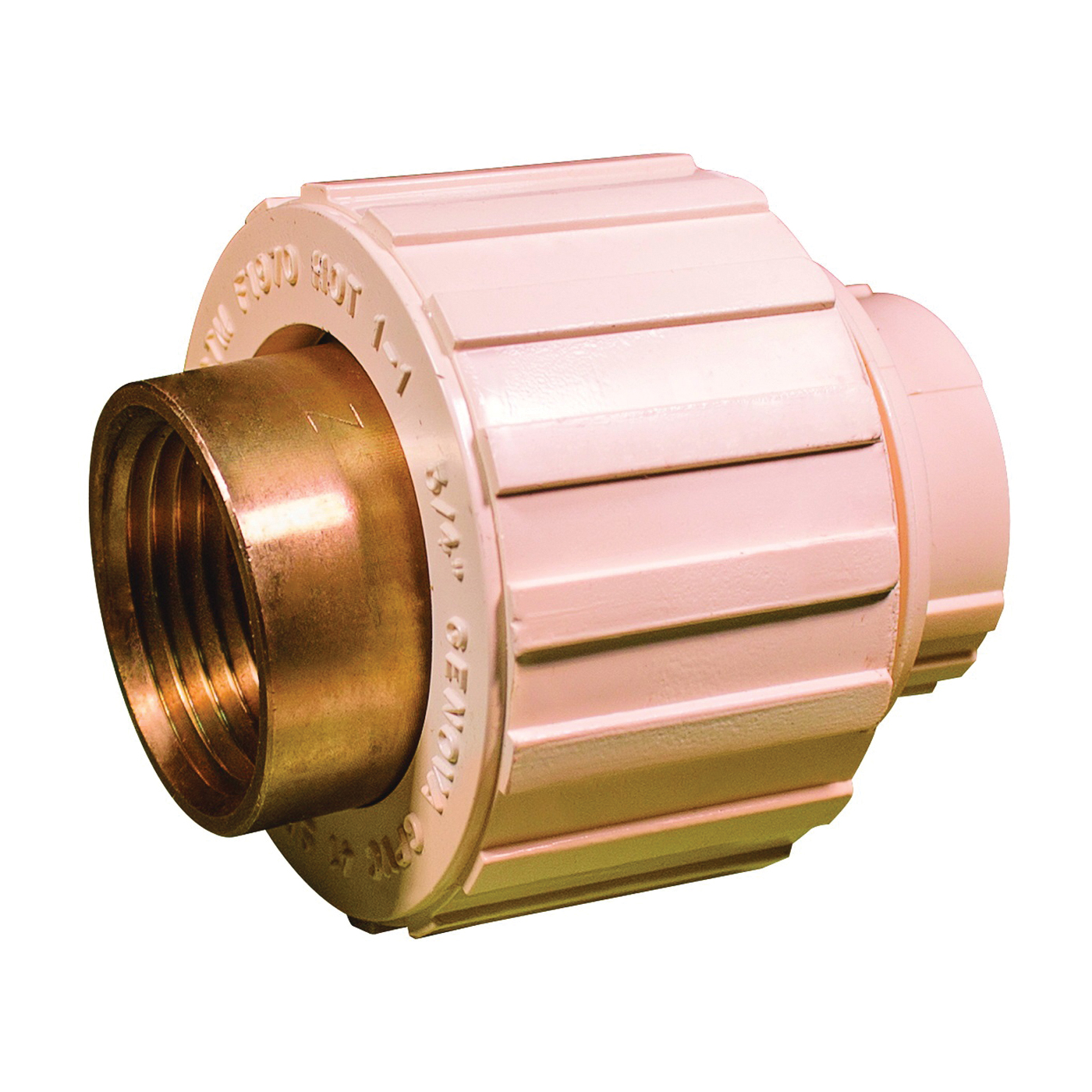 Picture of GENOVA 500 Series 53040Z Transition Union, 3/4 in, Slip Joint x FIP, 100 psi Pressure