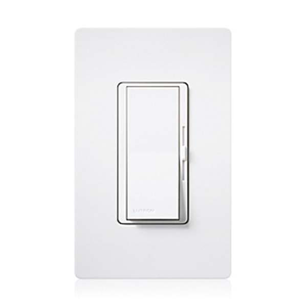 Picture of Lutron DVFSQ-LFH-WH Fan and Light Control Switch, 1.5 A, 120 VAC, 120 W, LED Lamp, White