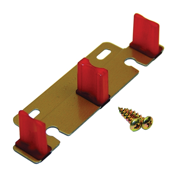 Picture of Johnson Hardware 2135PPK1 Door Guide, Nylon, Brown, Bottom Mounting
