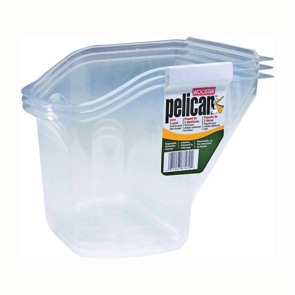 Picture of WOOSTER PELICAN 8629 Pail Liner, PET, Clear
