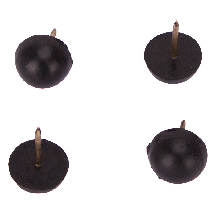 Picture of ProSource FE-50670-PS Furniture Leg Tip, Round, Rubber, Black, 1/2 in Dia
