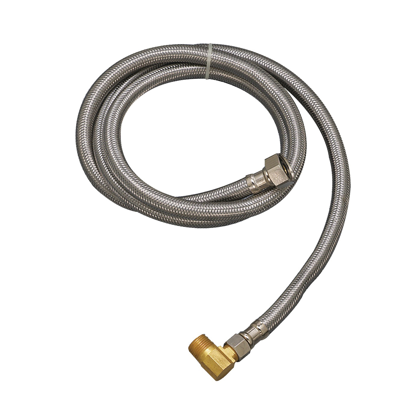 Picture of Plumb Pak PP23836 Dishwasher Connector, 1/2 x 3/8 in, FIP x MIP, Stainless Steel
