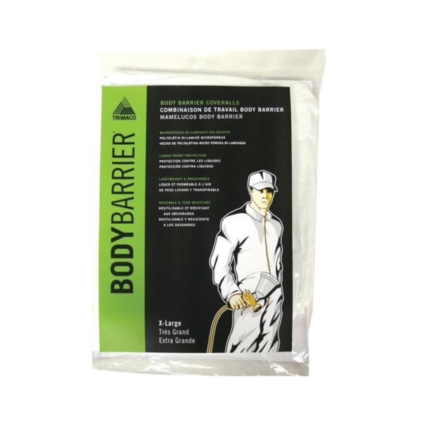 Picture of Trimaco 09955 Protective Coverall, XL, Zipper Closure, Polyolefin, White