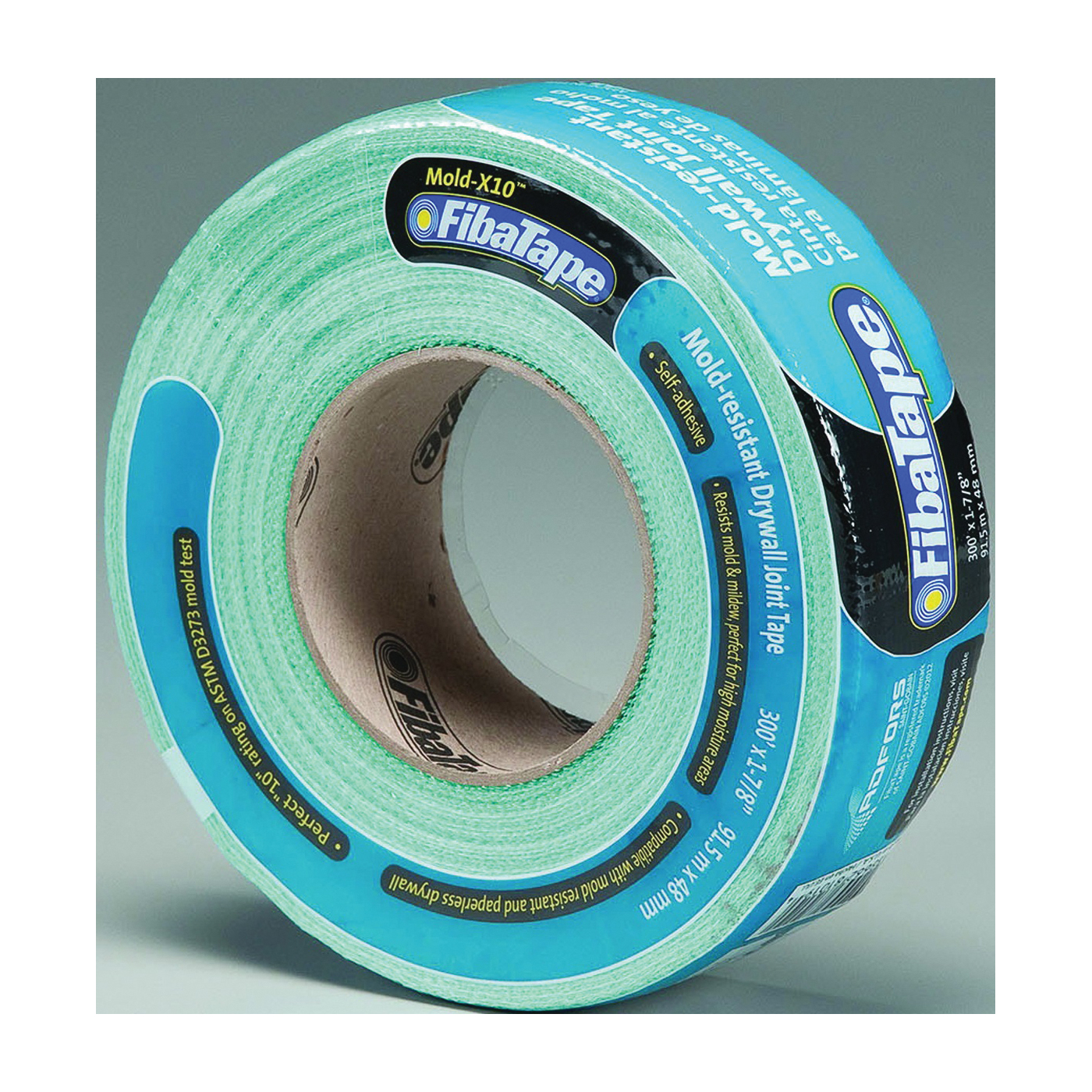 Picture of ADFORS Mold-X10 FDW8664-U Drywall Tape Wrap, 300 ft L, 1-7/8 in W, 0.3 mm Thick, Green, Wrap