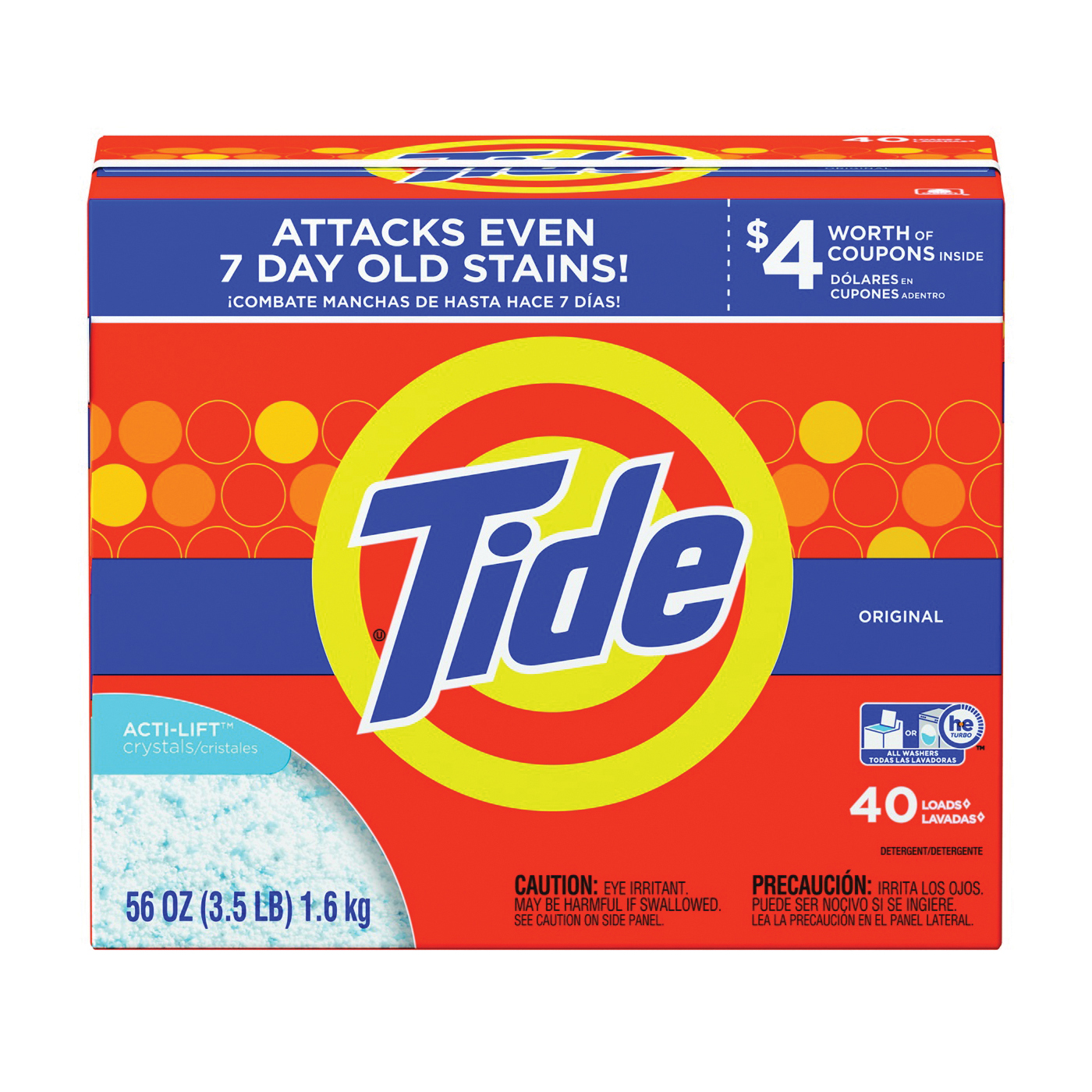 Picture of Tide 84981 Laundry Detergent, 56 oz, Powder, Original