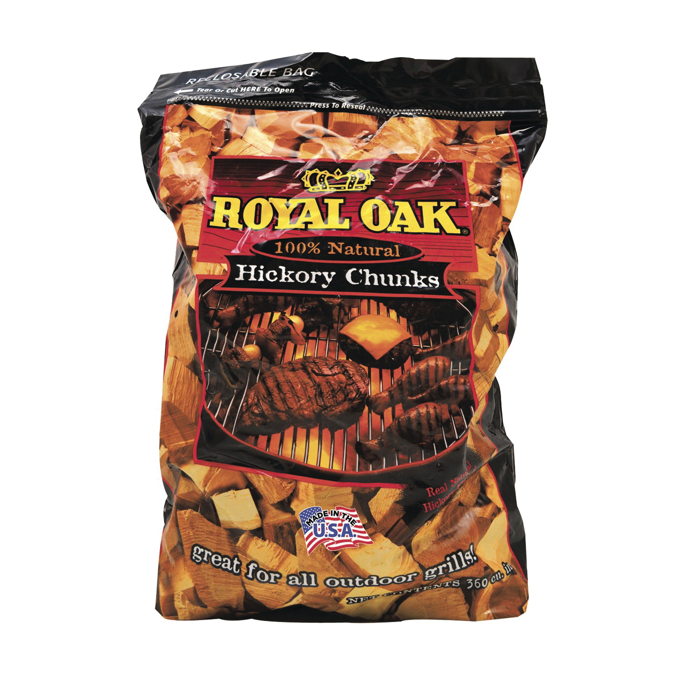 Picture of ROYAL OAK 197-300-163 Wood Chunks, 6 lb Package, Bag
