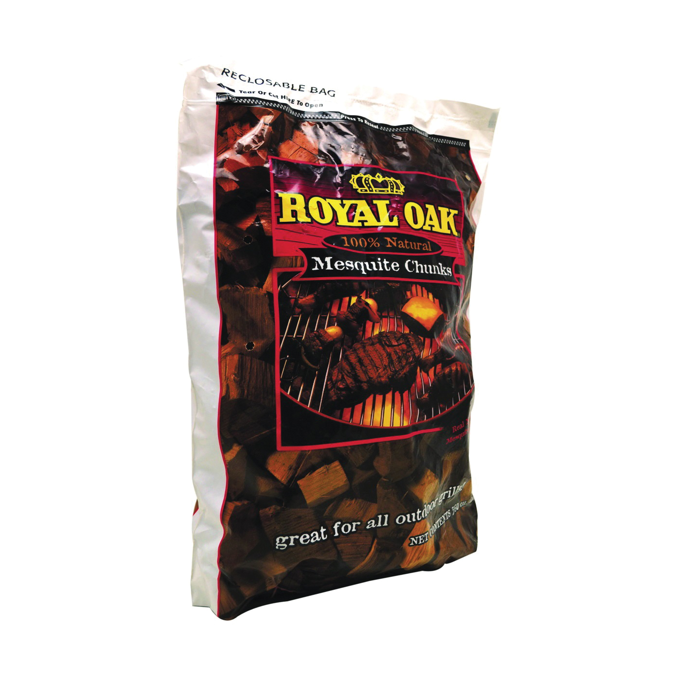 Picture of ROYAL OAK 197-301-163 Wood Chunks, 6 lb Package, Bag