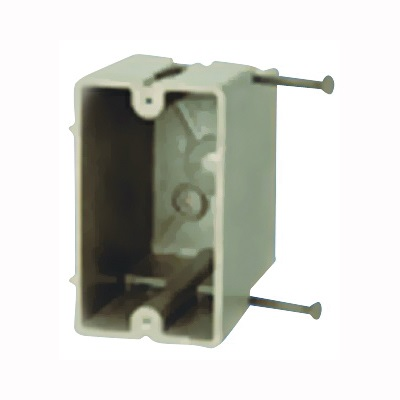Picture of Allied Moulded FiberglassBOX 1098-N Electrical Wall Box, 1-Gang, Fiberglass Reinforced Polyester BMC, Beige/Tan
