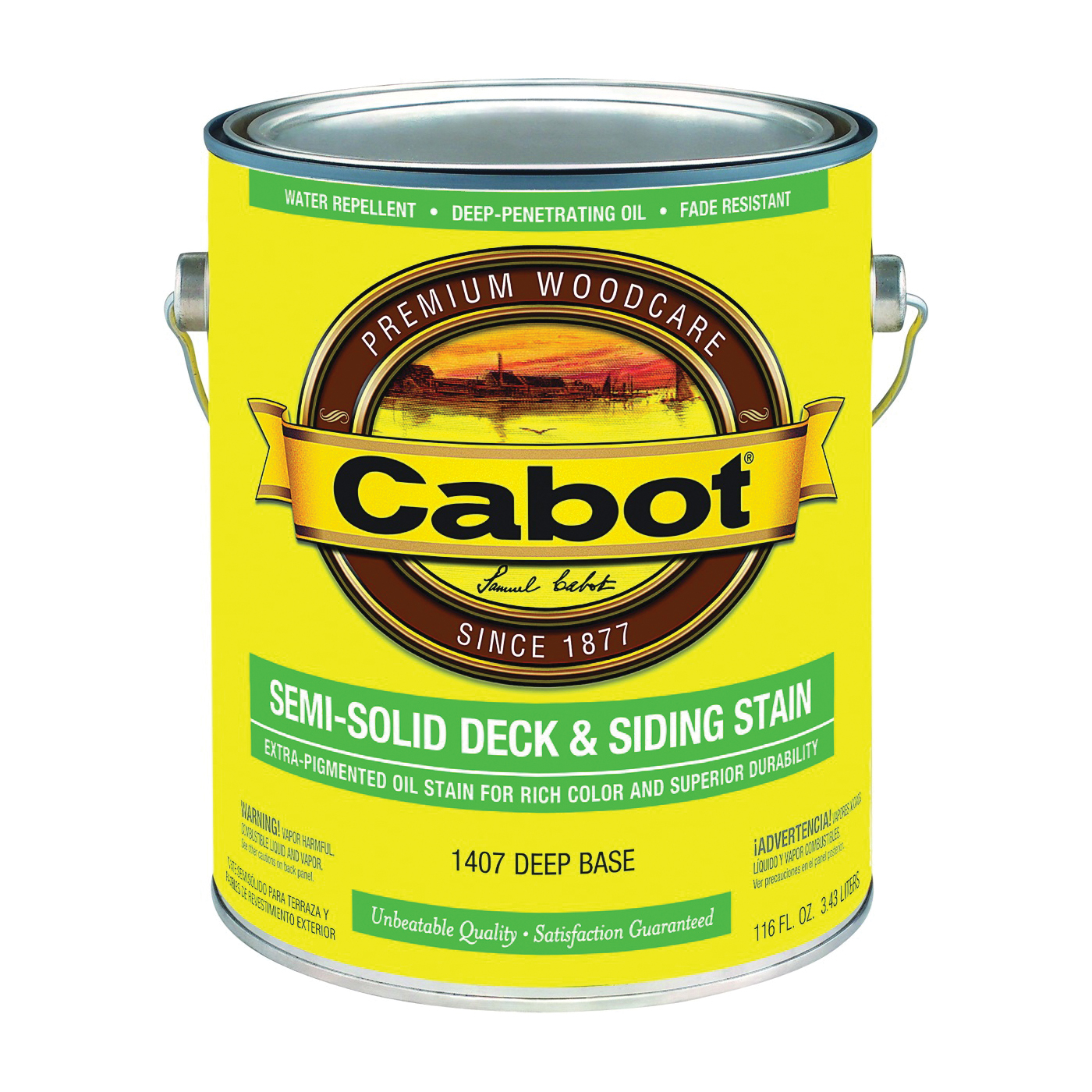 Picture of Cabot 1407 Deck and Siding Stain, Natural Flat, Deep Base, Liquid, 1 gal