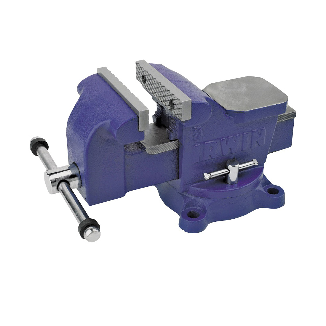 Picture of IRWIN 226304ZR Workshop Vise, 4-1/4 in Jaw Opening, 4 in W Jaw, 2.2 in D Throat, Steel